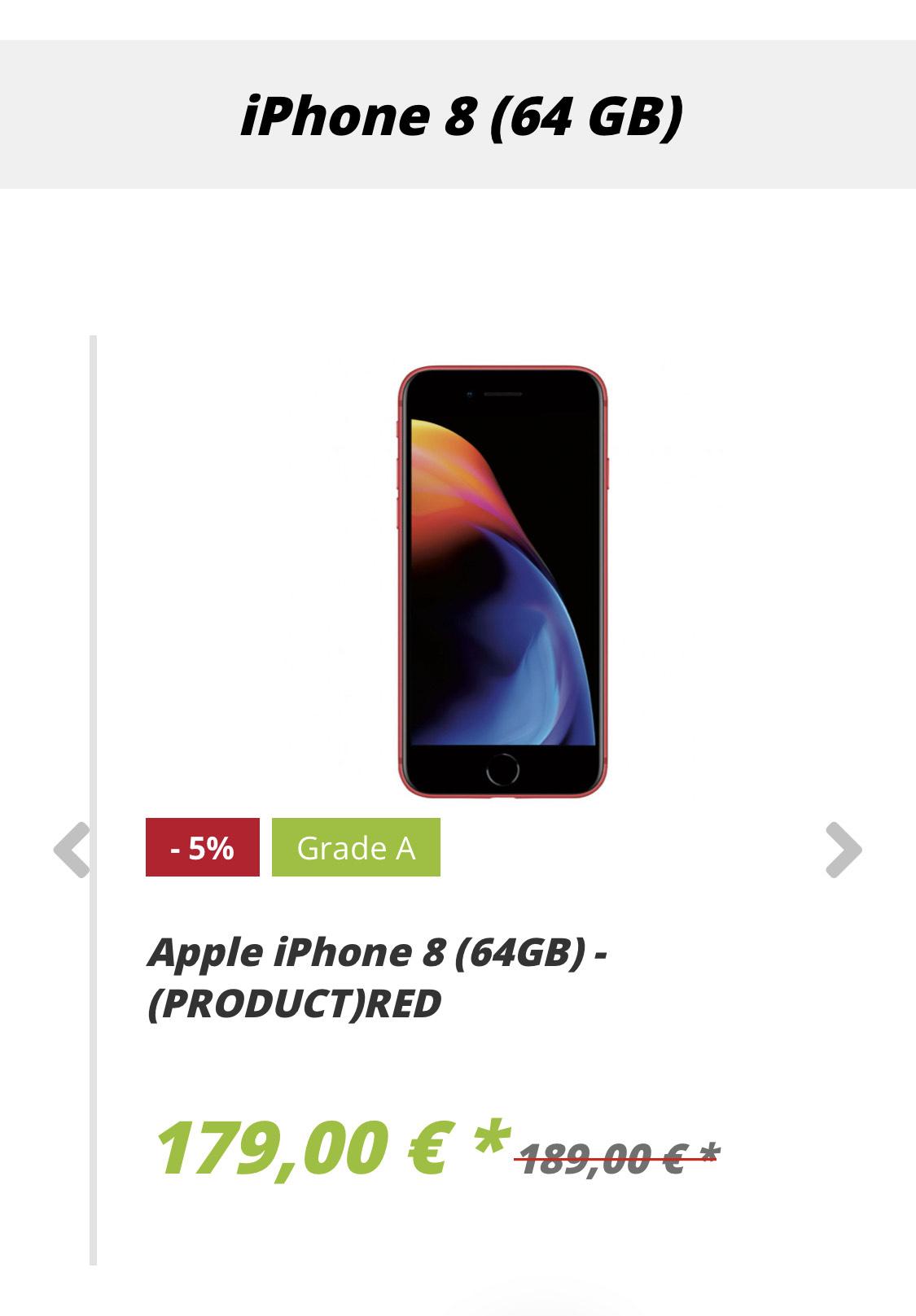 iPhone 8 gebraucht jetzt schon ab 169€