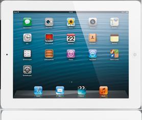 iPad 4 16GB Wi-Fi + Cellular Weiss mit Internet-Flat bei BASE für 600,00 €