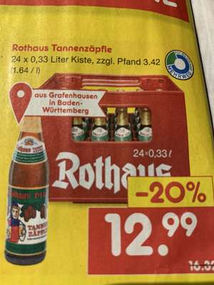 [Netto MD] Rothaus Tannenzäpfle 24 x 0,33l