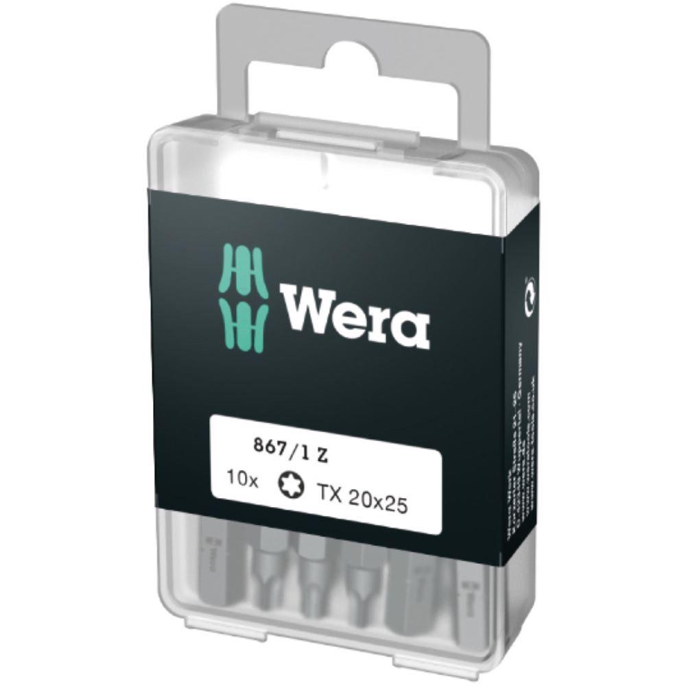 Wera Bit-Sortiment 10er Pack 867/1 TX 20 DIY, TX 20 x 25 mm