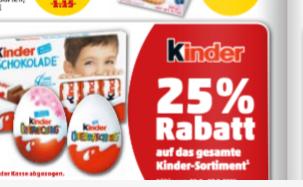 25% auf alle Kinder Produkte bei Penny