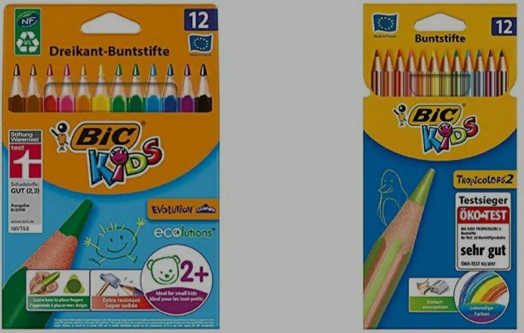 Bic Kids - Ergonomische Dreikant- 24 Malstifte