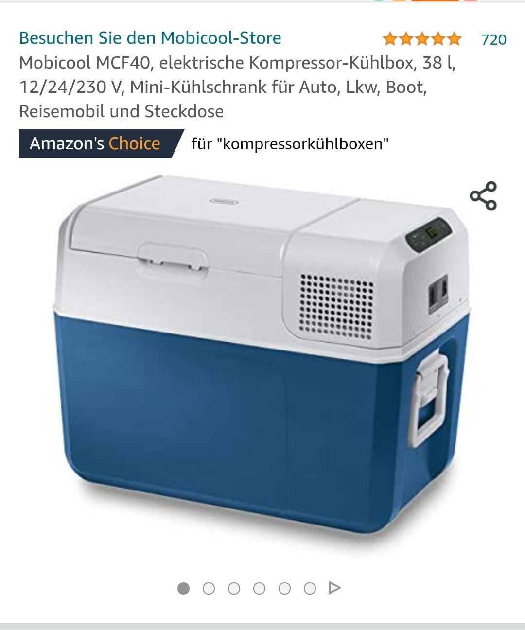 Mobicool MCF40, elektrische Kompressor-Kühlbox, 38 l, 12/24/230 V