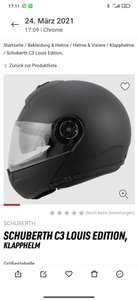 Helm Schuberth C3 louis special edition