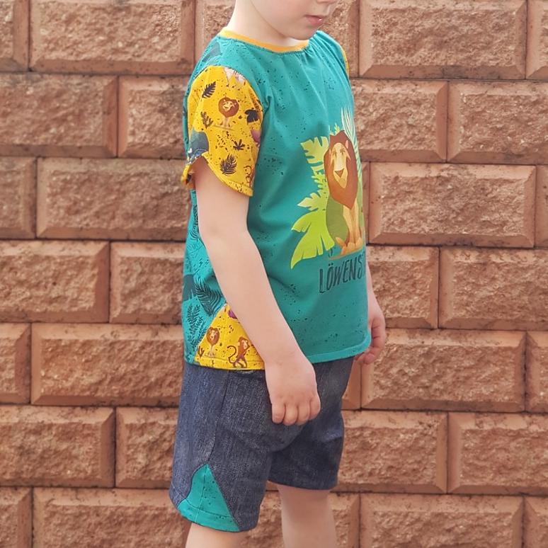 [Sewunity] MainZwillingsnadel kostenloses Schnittmuster E-Book für ein Sommer-Set Shorts+ Shirt Gr. 68-134