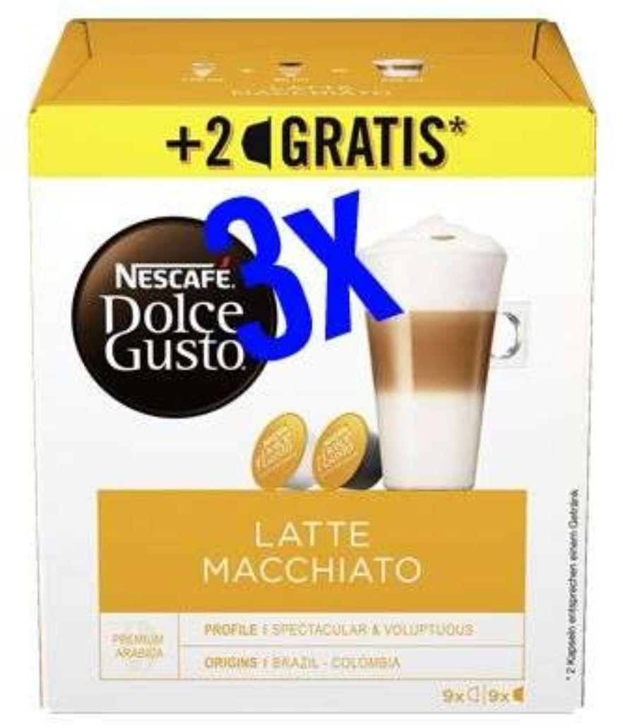 [Rewe Center + Rewe] 3x Nescafé Dolce Gusto Kapseln 16 + 2 gratis mit Coupon für 5,17€ (Stückpreis = ca. 1,72€)