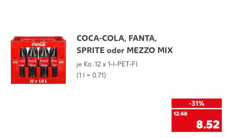 CocaCola, Fanta, Sprite, MezzoMix
