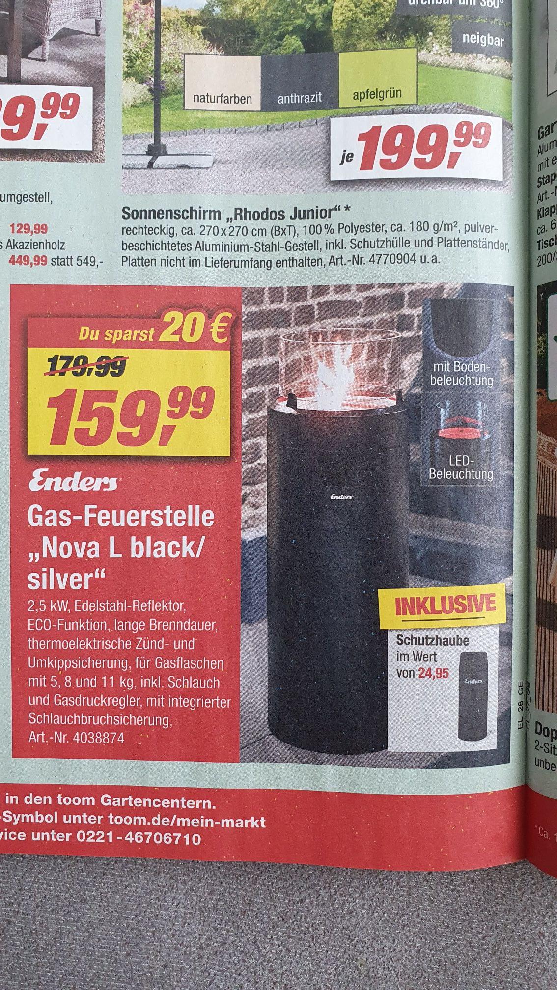 Enders Gas-Feuerstelle Nova L black/silver