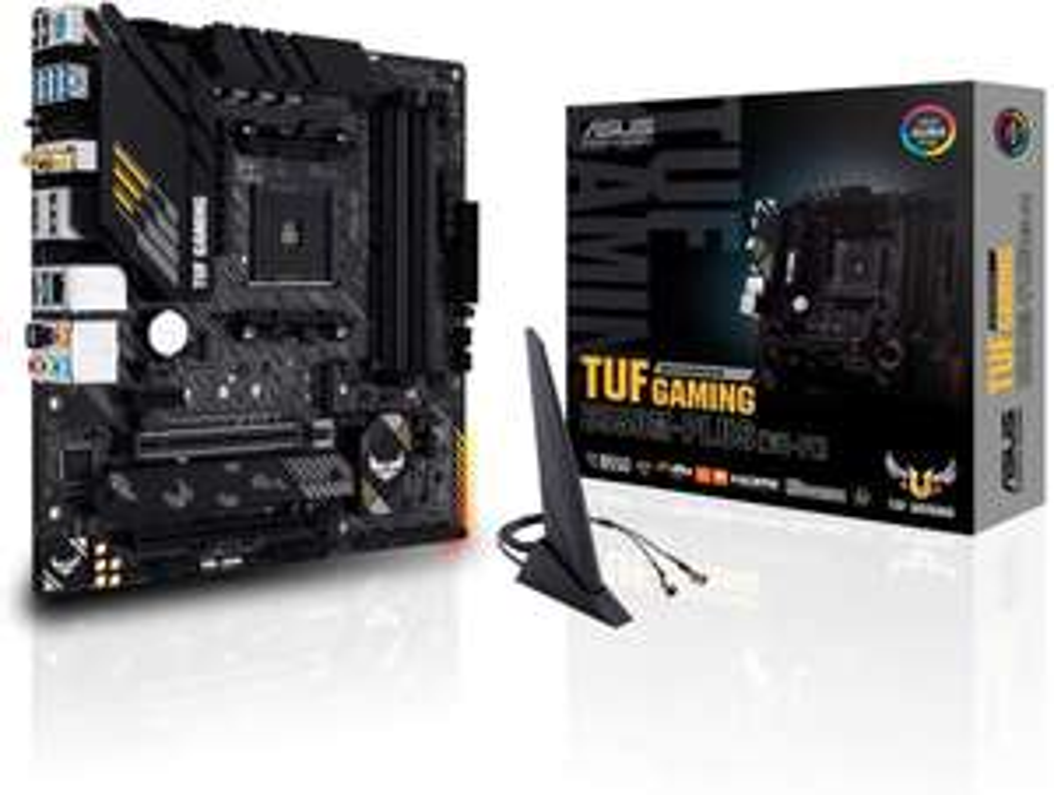 ASUS TUF Gaming B550M-Plus WiFi motherboard (AM4, micro-ATX, Ryzen, PCIe 4.0, 2xM.2, SATA 6Gbit / s, USB 3.2, Aura Sync RGB)