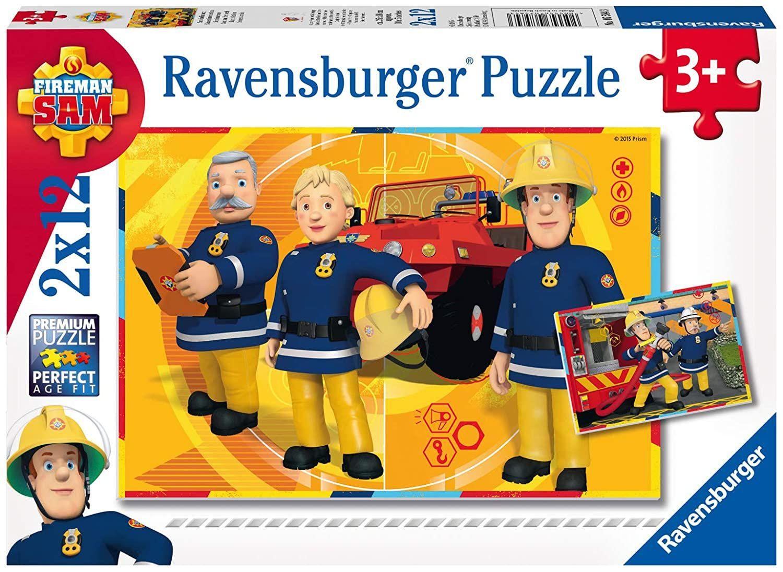 Ravensburger Kinderpuzzle 07584 - Sam im Einsatz - 2 x 12 Teile [Amazon Prime & Rewe]