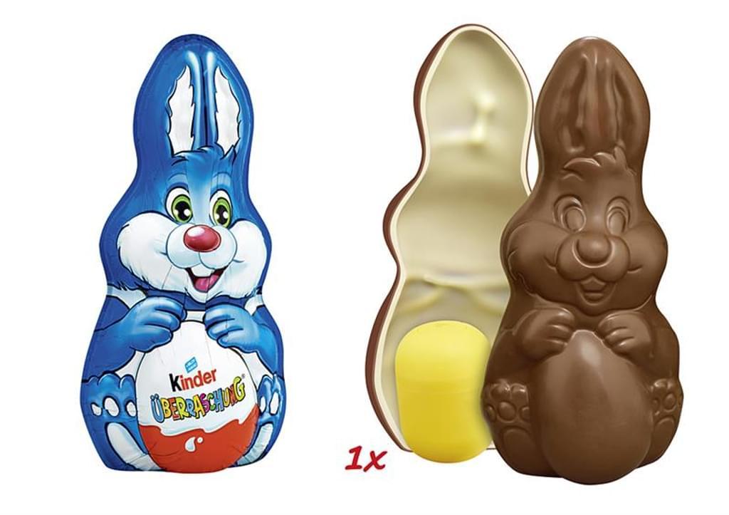 """Netto MD: """" Kinder"""" Osterhase mit Überraschungsei im Hohlkörper und 75 g Kinderschokolade . Nur am kommenden Samstag!!"""