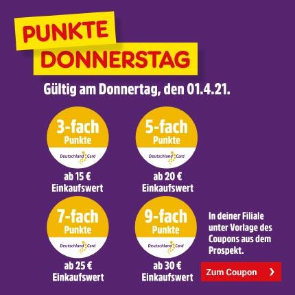9fach Deutschlandcard Punkte in Netto Filialen am 01.04. ab 30€ + Ariel Sparcoupon