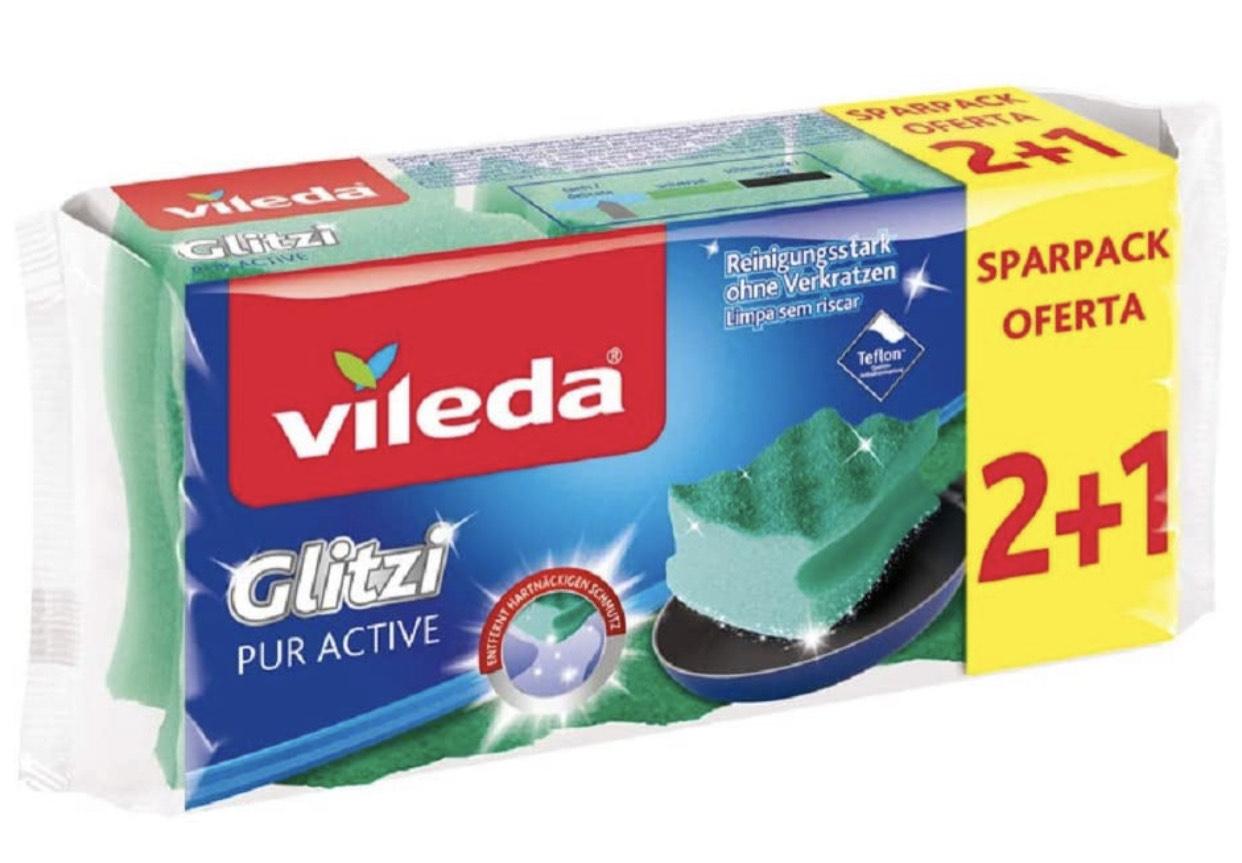 4 x Vileda Glitzi PurActive Reinigungsschwamm ab 0,78€ durch Kaufe 4, zahle 3