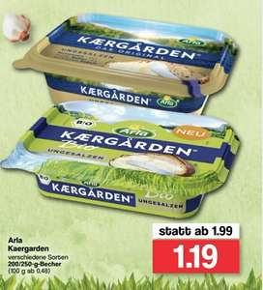 [Familia Nord West] Arla Kaergarden Bio mit Cashback ab 0,69€