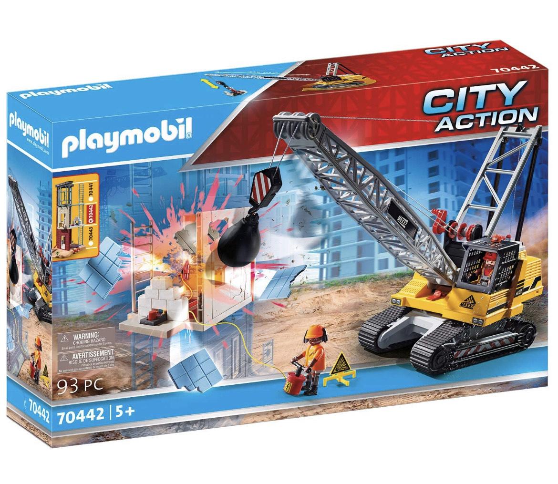 PLAYMOBIL City Action 70442 Seilbagger mit Bauteil @Amazon.de