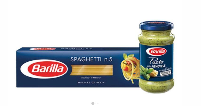 [Rewe] Barilla Spaghetti No. 5 + Barilla Pesto mit Scoondo Cashback für effektiv 2,26€ (99x pro Acc)