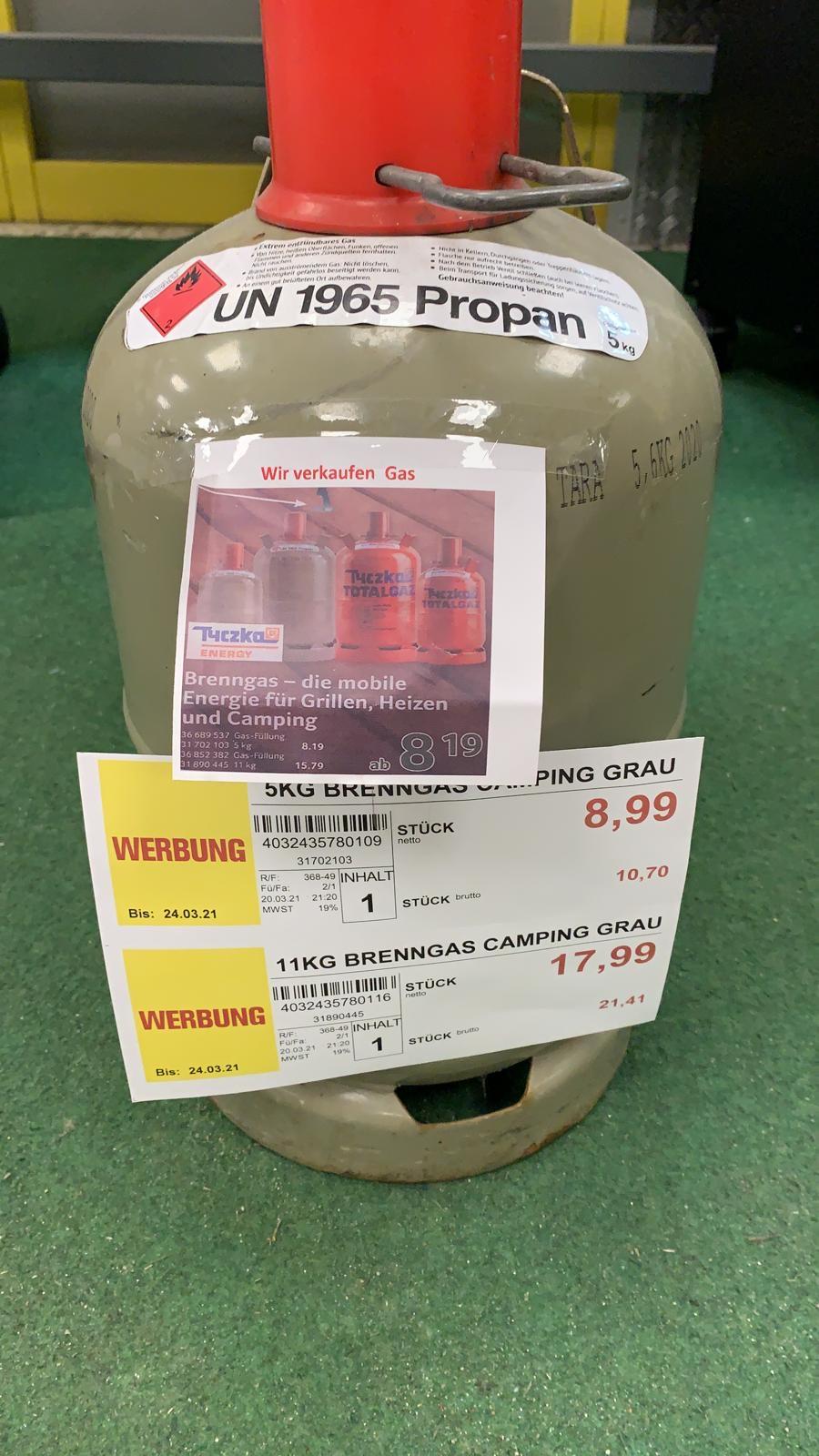 Lokal Hamburg - Propan Gas Flasche Füllung ohne Pfand