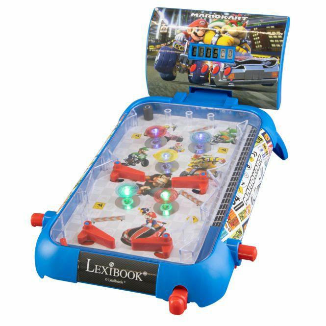 Lexibook Super Mario Kart - Flipperspiel, mit Sound - und Lichteffekten, ab 5 Jahren, L x B x H 52 x 26 x 5 cm [Rofu-Abholung]