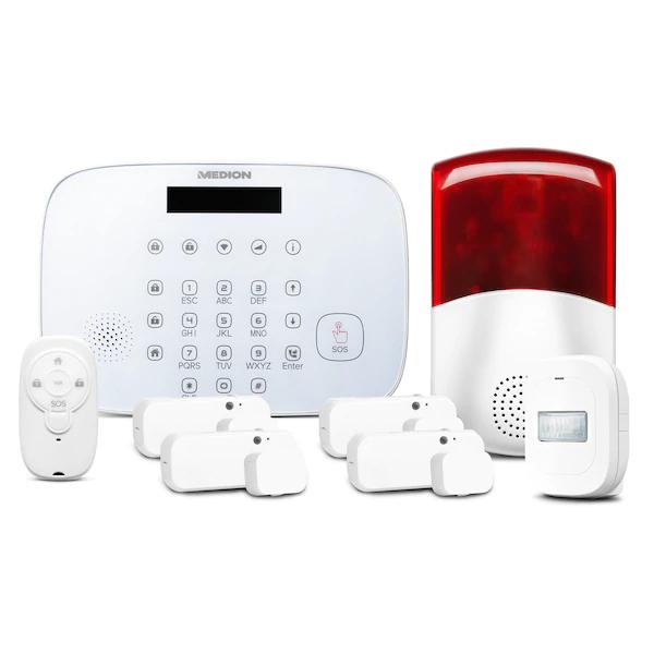 Medion Alarmsystem MD90774 (1x Alarm-Zentrale, 4x Tür-/Fensterkontakt, 1x Bewegungsmelder, 1x Fernbedienung) [MEDION]