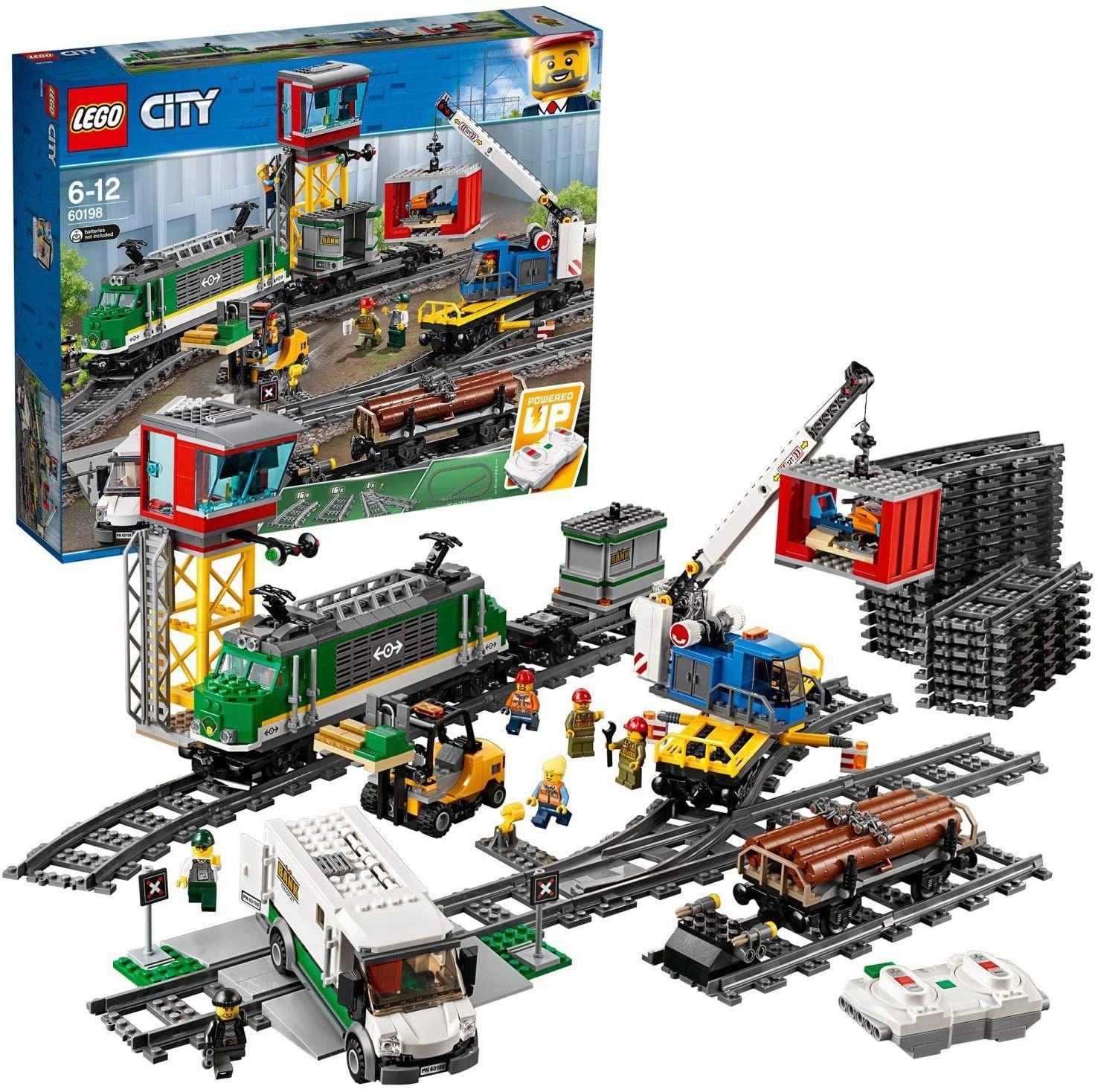LEGO Sammeldeal z.B LEGO 60198 City Güterzug, Set mit batteriebetriebenem Motor für Kinder ab 6 Jahren, Bluetooth-Fernbedienung, 3 Wagen