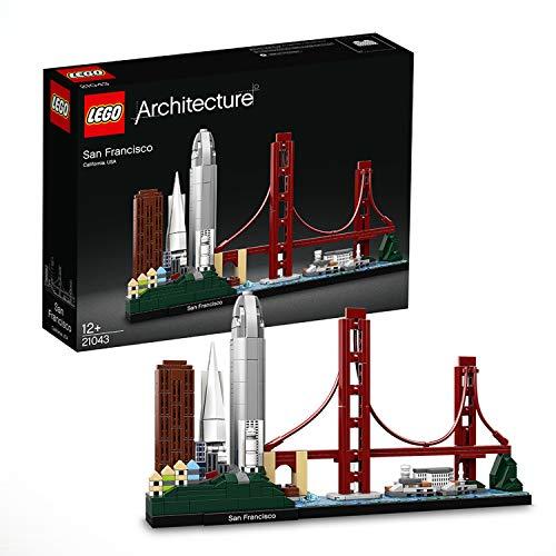 Lego 21043 Architecture San Francisco, Modell mit Golden Gate Bridge und Alcatraz Island, Skyline-Kollektion. Anscheinend wieder verfügbar!
