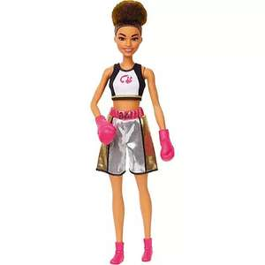 Barbie - Sammeldeal, z.B. Barbie GJL64 - Brünette Barbie Boxerin-Puppe mit Boxoutfit und pinkfarbenen Boxhandschuhen [Amazon Prime]