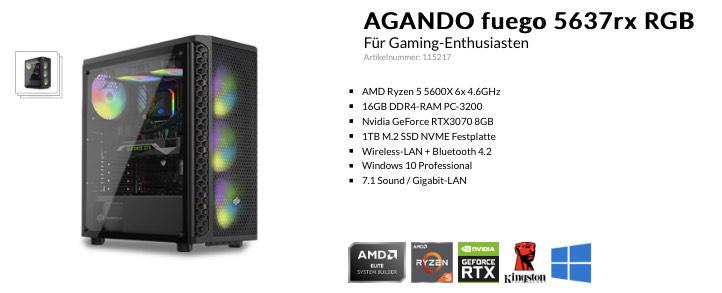 Gaming PC - Ryzen 5600x , RTX3070 , 16GB-3200 DDR4 , 1TB SSD , B550 , Win10