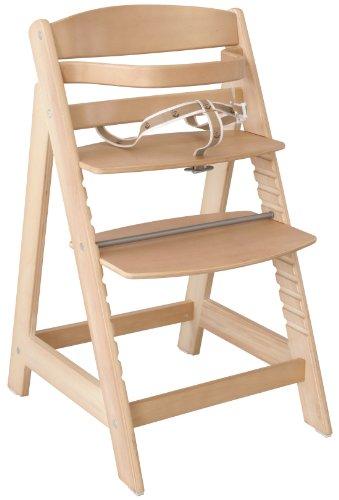 roba Treppenhochstuhl Sit Up III, mitwachsender Hochstuhl vom Babyhochstuhl bis zum Jugendstuhl, Holz, naturfarben (Prime)