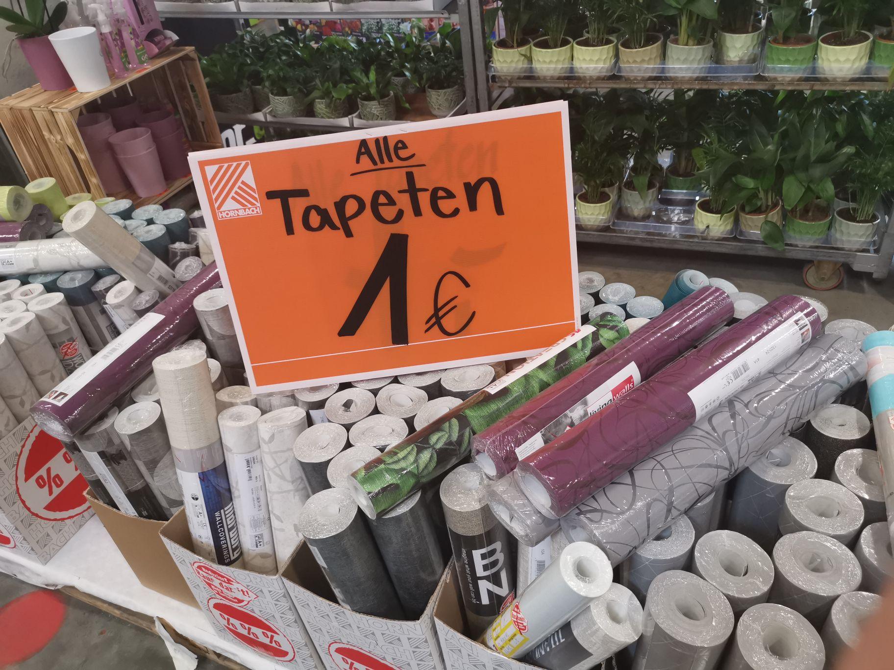 Hornbach Ludwigshafen viele Vliestapeten für 1€