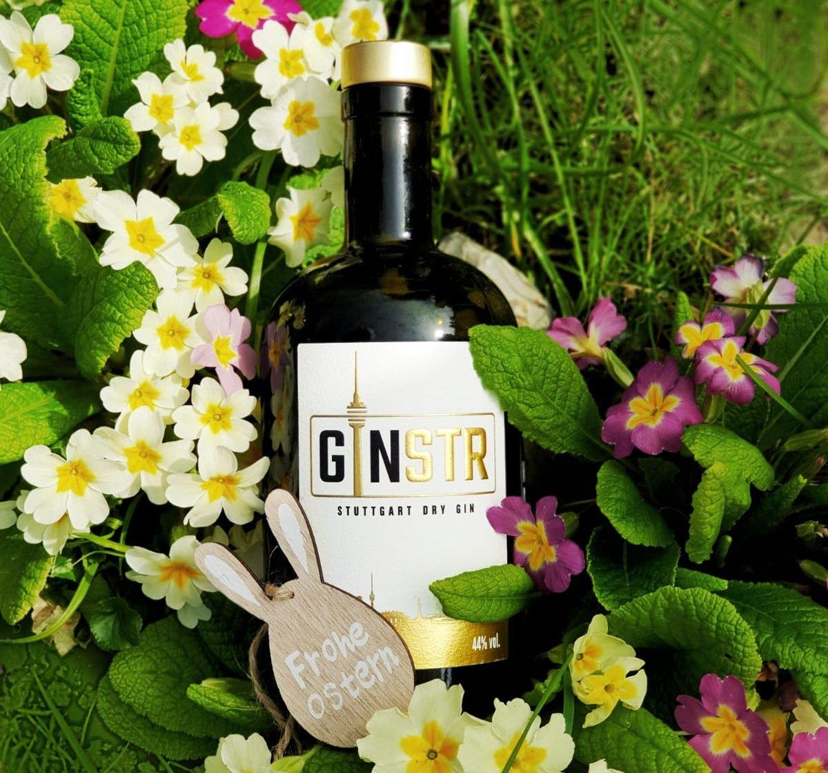 15% Oster-Rabatt bei GINSTR – Stuttgart Dry Gin