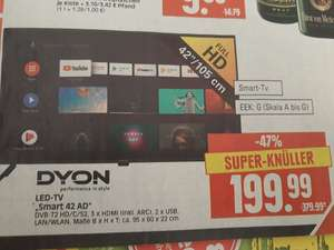 [LOKAL eCenter Herkules] DYON Smart 42 AD Fernseher, FHD, Android TV