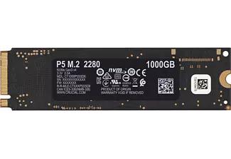 Crucial P5 SSD 1TB, M.2 SSD (PCIe 3.0 x4, 3D-NAND TLC, 1GB LPDDR4 Cache, R3400, W3000)