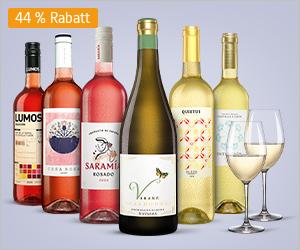 [GMX/ web.de] 6 spanische Weiß- & Roséweine + Gläser-Set über WEB.Cent