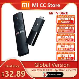 Global Version Xiaomi Mi TV Stick Android TV 9.0 1080P(Full-HD) 8GB ROM Google Assistant Netflix