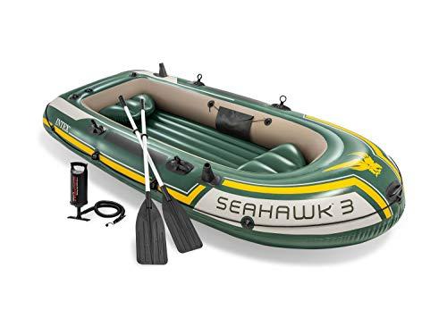 [ Amazon / Prime ] Intex Schlauchboot - Seahawk 3 / Set / 295 x 137 x 43 cm - 3-teilig - Grün / 3 Personen max. / 360kg max.