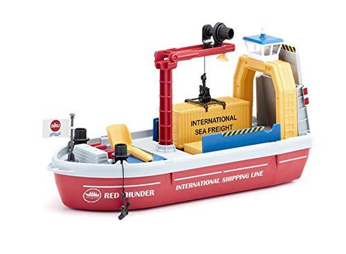 SIKU 5403, Containerschiff inkl. Zubehör, Kunststoff, Bunt, Inkl. 1 Schaufel und 2 Containern
