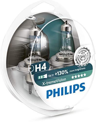 Philips 12342XV+S2 XtremeVision 130Prozent Halogen Scheinwerferlampe H4 2er Set (Prime)