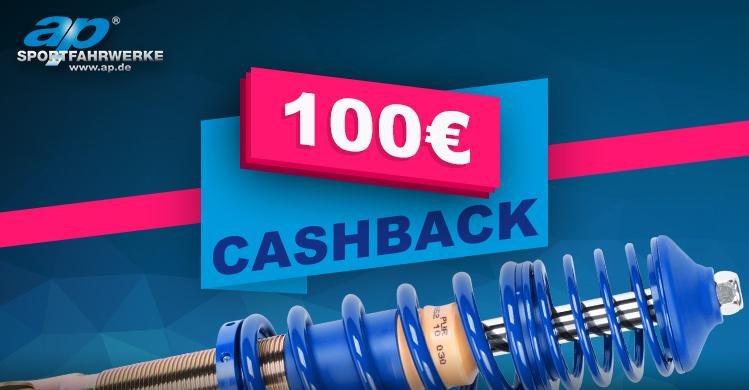 AP Gewindefahrwerke Cashback Aktion 2021 - 100€ Cashback pro Gewindefahrwerk