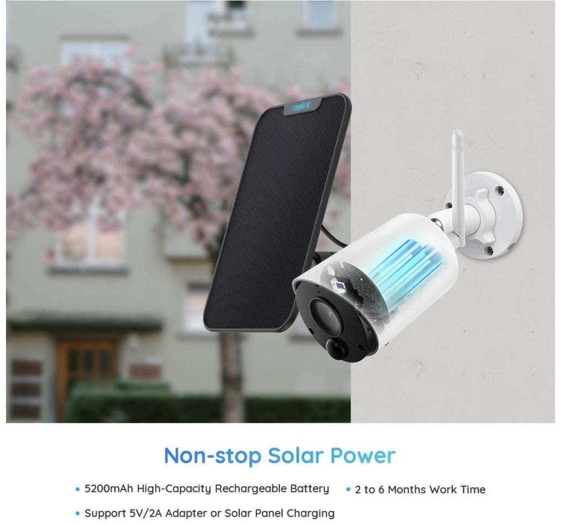 Reolink Überwachungskamera Argus Eco + Solarpanel bei Amazon Prime Same Day