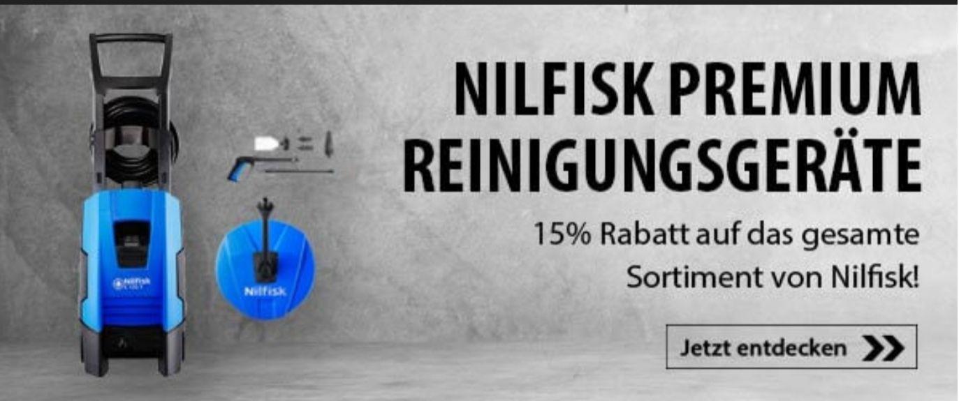 15% auf alle Nilfisk Geräte Hochdruckreiniger Sauger Kehrmaschine