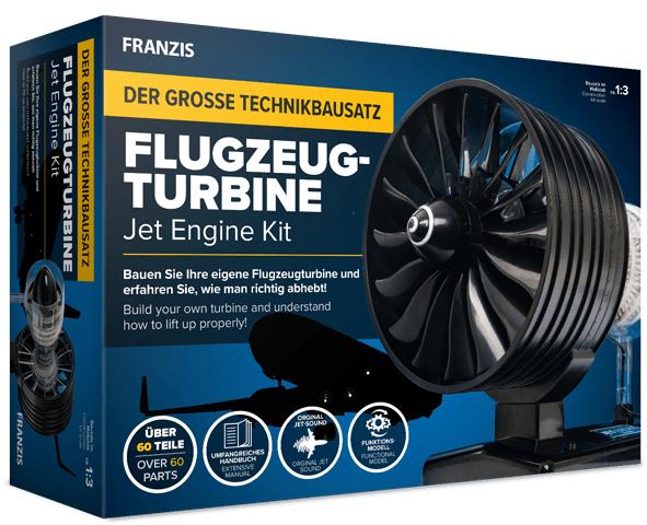 Franzis Flugzeugturbine - Der große Technikbausatz, funktionstüchtiges Modell mit über 60 Teilen