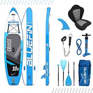 Bluefin Cruise SUP Board Set | Aufblasbares Stand Up Paddle Board6 Zoll Dick | Fiberglas Paddel | Kajak Sitz