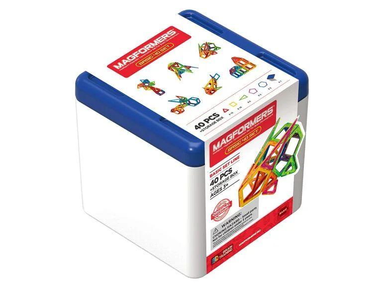 Magformers BOX 40 Set Kompaktes Basicset mit praktischer Aufbewahrungsbox / Ab 3 Jahren [Lidl]