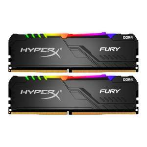 Kingston HyperX Fury RGB DIMM Kit 32GB, DDR4-3733 Mhz, CL19-23-23, dual rank, x8 (HX437C19FB3AK2/32)