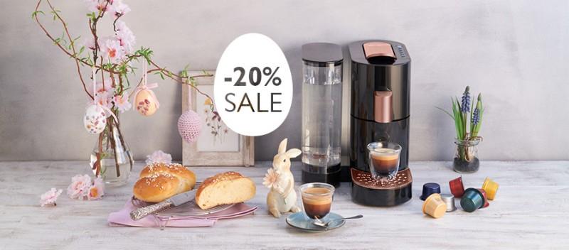 20% auf K-fee Kapselmaschinen für Kapseln der Marken Aldi Süd Expressi, Dallmayr, Coffee Fellows & mehr