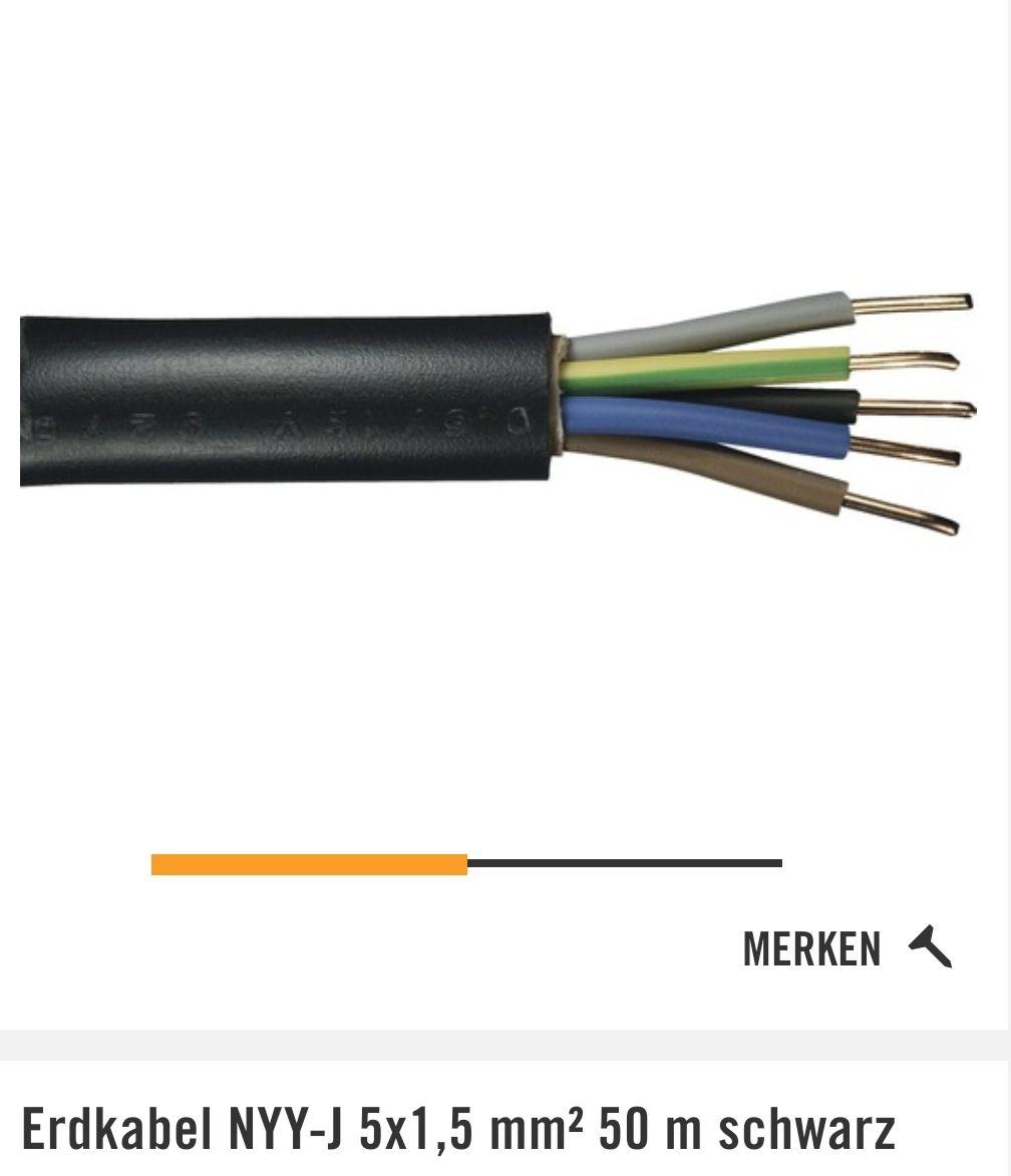 NYY-J 5x1,5mm², 50m Ring TPG vom Hornbach