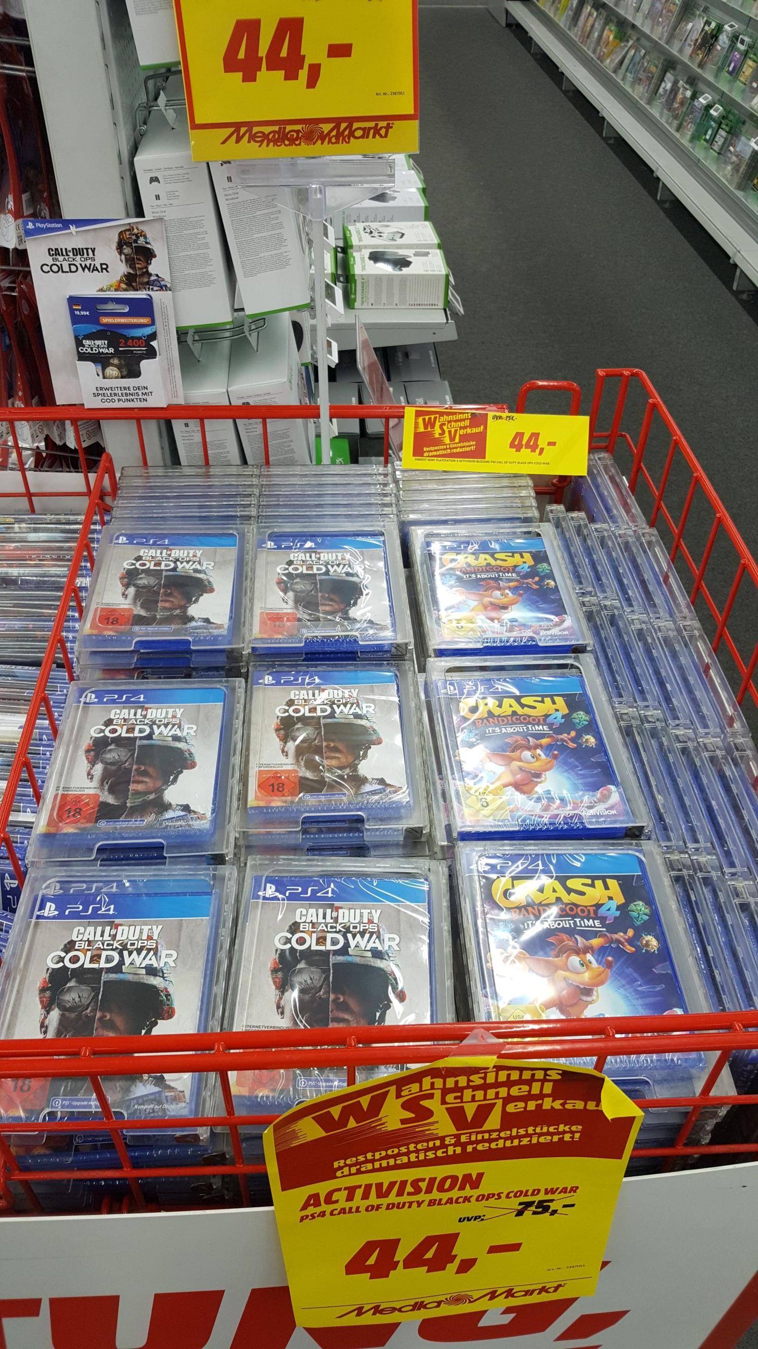 (Lokal MM Rostock Brinckmansdorf) Call of Duty: Black Ops Cold War PS4 für 44€ und diverse weitere Angebote