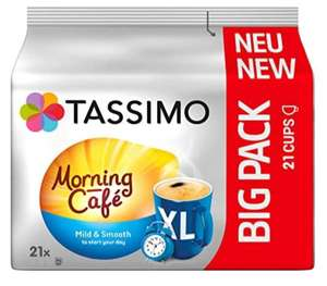Tassimo Morning Café XL Mild & Smooth, 5er Pack Kaffee Kapseln im Big Pack (5 x 21 Getränke) 14,96€ mit 5 Sparabos