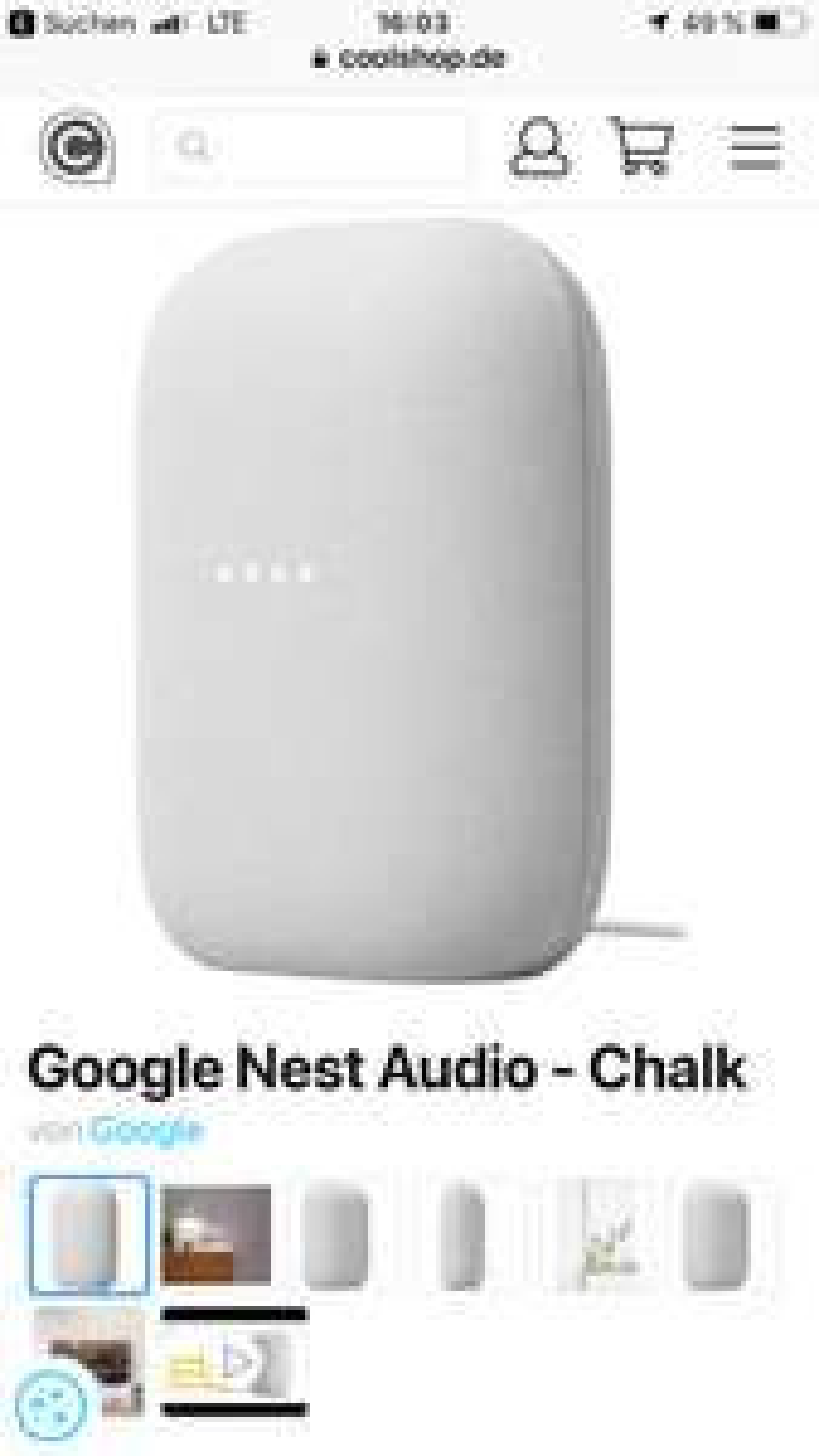Google Nest Audio (Nachfolger des Google Home)