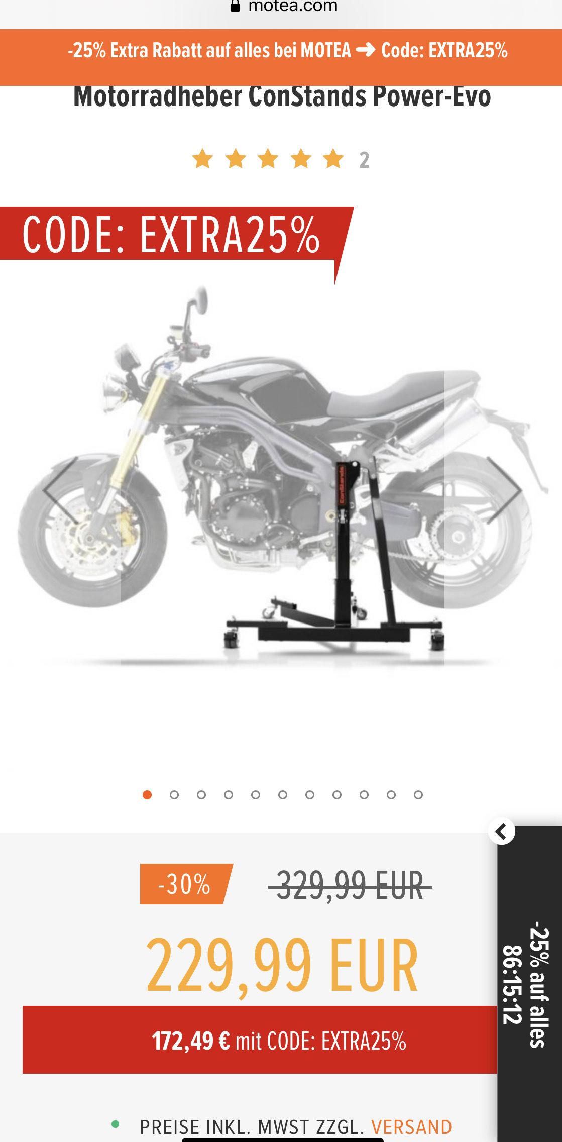 ConStands Zentralständer für Motorräder